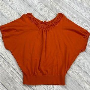 Anthropologie Moth Orange batwing sweater - XS